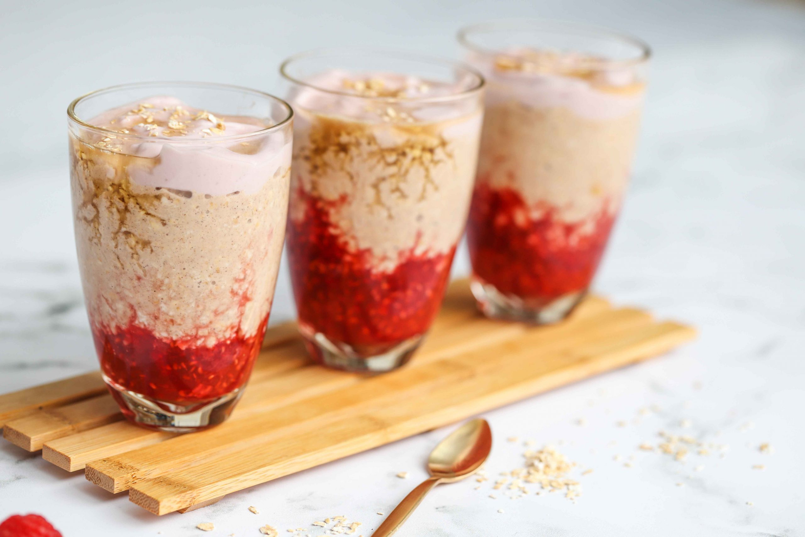 Raspberry and Coconut Muesli Bircher